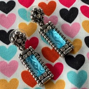 Brighton Dangling Earrings With Blue Stones